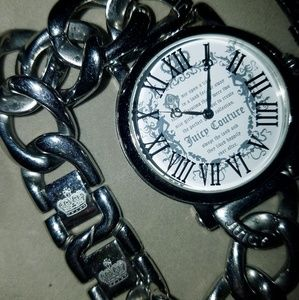 Juicy Couture Silver Chained Watch